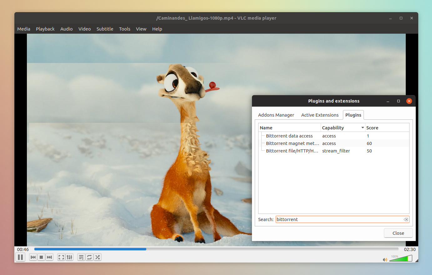 vlc-bittorrent-plugin